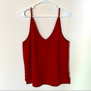 American Apparel Red Deep V Camisole Size Large
